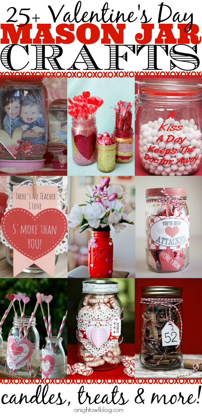 So many cute Mason Jar Valentines on this list! Such great ideas!