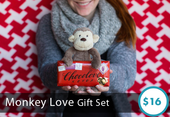 Monkey Love Gift Set by Sesame Gifts