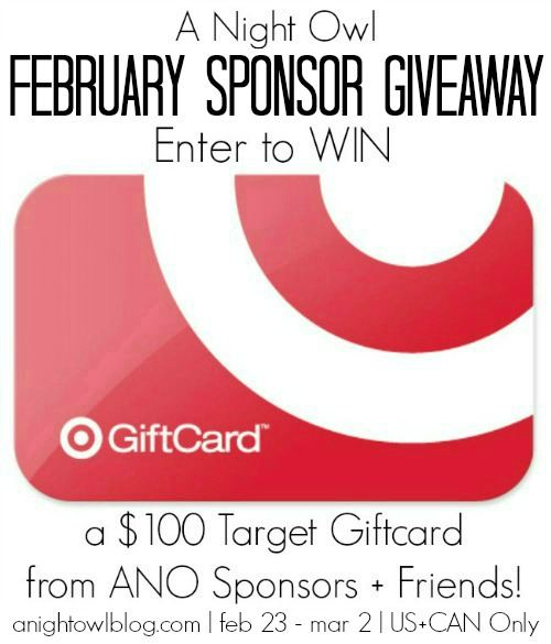 Enter to WIN a $100 Target Gift Card from A Night Owl Sponsors and Friends!