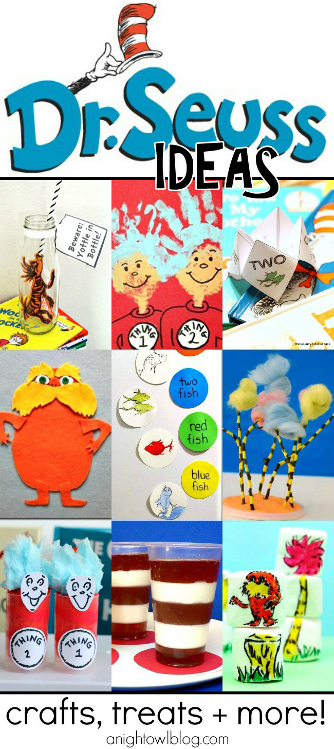 So many great Dr. Suess ideas in one place - crafts, treats and more!