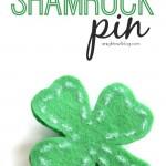 No-Sew Shamrock Pin