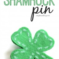 No-Sew Shamrock Pin