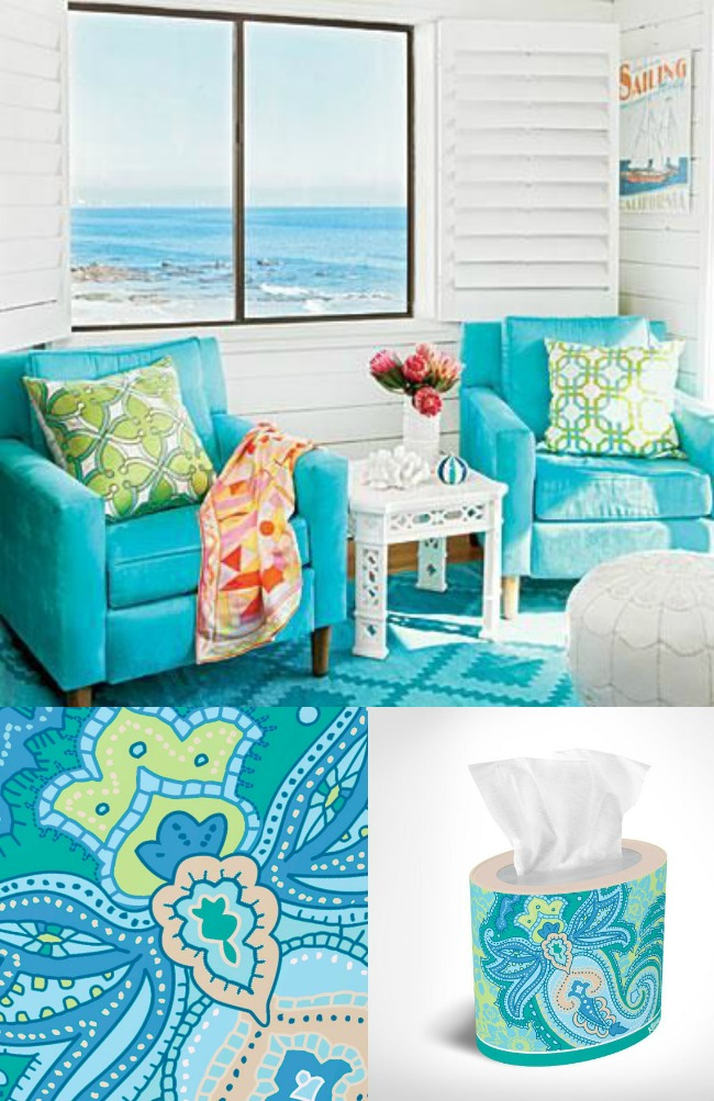 Paisley Power is perfect for Coastal Decor! #KleenexStyle