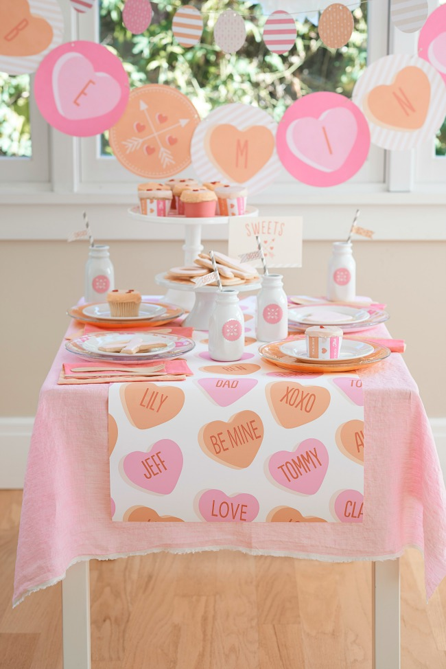 Such an adorable Valentines Party with Minted Party Supplies!