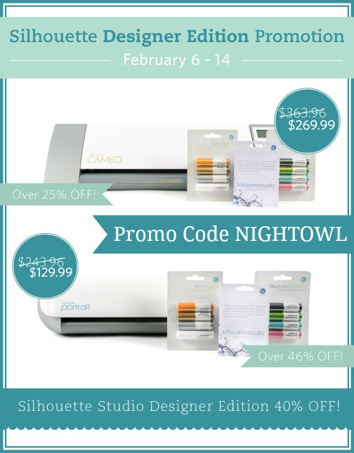 Silhouette CAMEO® designer edition bundle - Use promo code NIGHTOWL