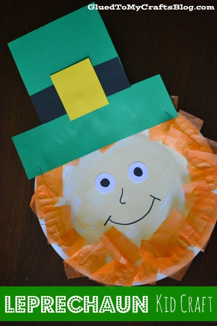 Leprechan Kid Crafts for St. Patrick's Day!