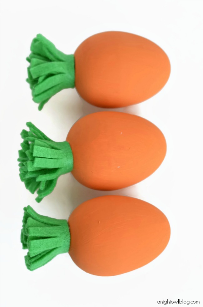 Adorable and easy DIY Carrot Easter Eggs
