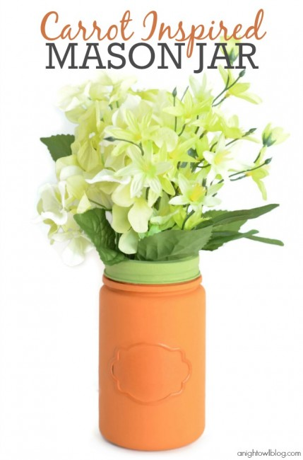 Carrot Inspired Mason Jar 1