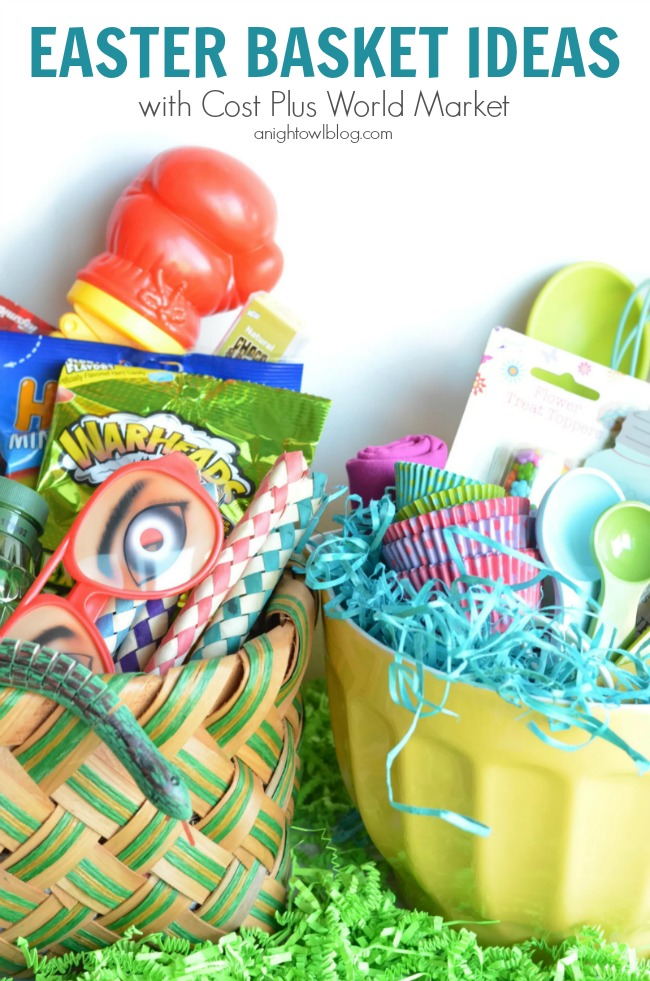 Easter Basket Ideas with Cost Plus World Market
