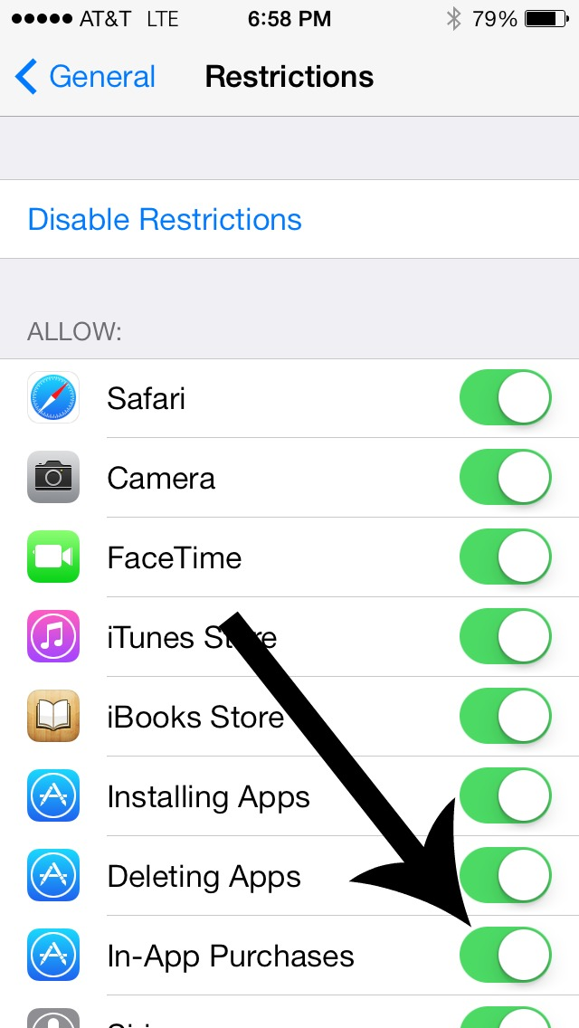 how to allow in app purchases on ipad