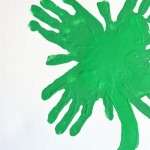 Kids Handprint Clover Art