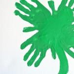 Kids Handprint Clover Art