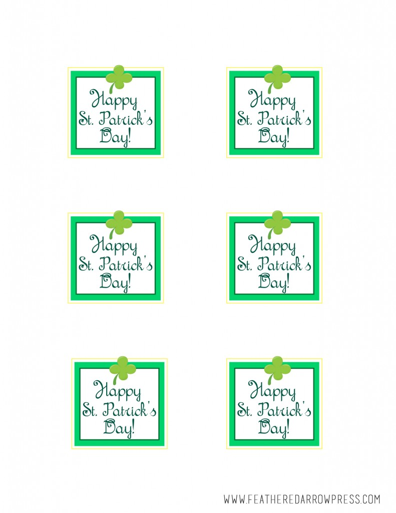 FREE Happy St. Patrick's Day Printable Tags