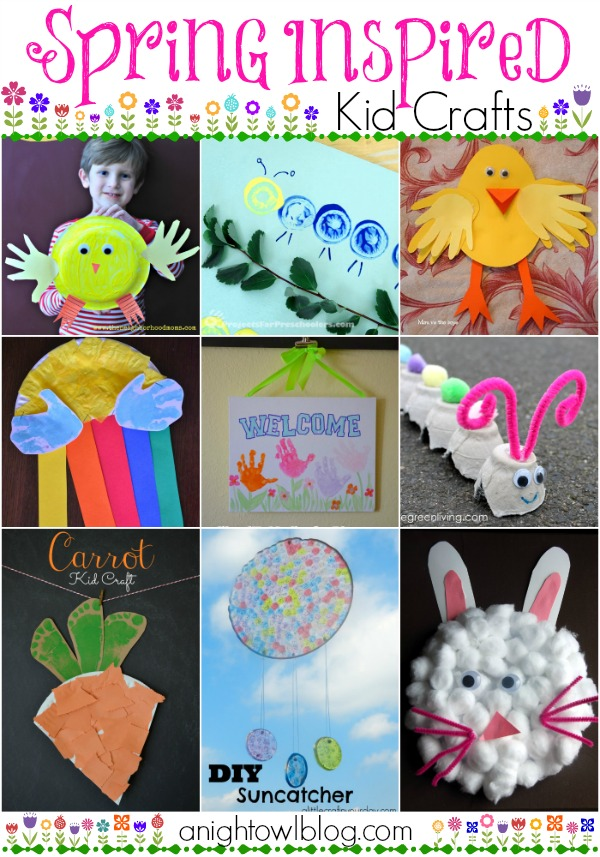 25+ Spring Inspired Kids Crafts
