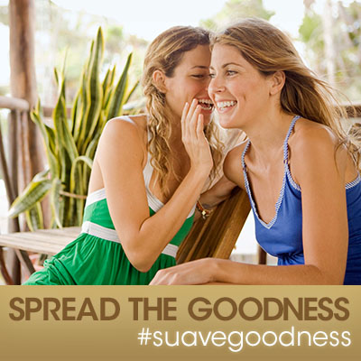 Join us for the #SuaveGoodness Twitter Party! Spread the goodness.
