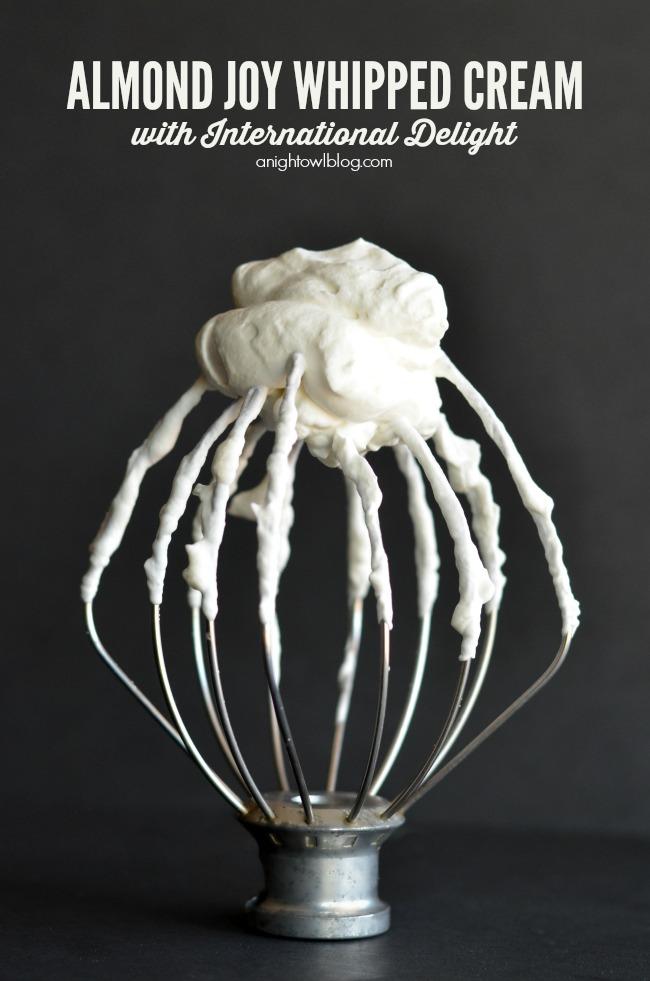Almond Joy Whipped Cream
