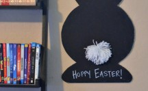 DIY Easter Chalkboard with Elmer's Foam Board