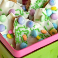 Easy Spring Candy Bark
