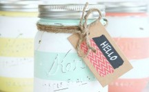 Spring Inspired Striped Jars