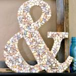 DIY Seashell Ampersand