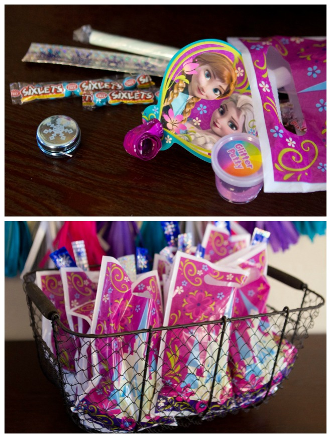 Fun Filled Goodie Bags Disney Frozen Birthday Party Ideas A Night Owl Blog