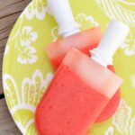 Strawberry Lemonade Popsicles - a sweet combination of strawberries and lemonade, perfect for Summer!
