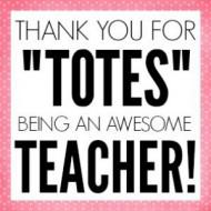 Teacher Tote Printable Tags