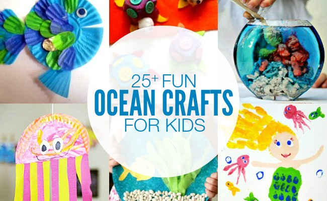 Ocean Themed Crafts for Kids | anightowlblog.com