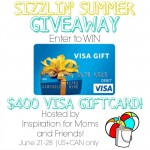 $400 Visa Gift Card Giveaway