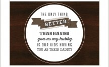 FREE Father's Day Printable Card and Tags
