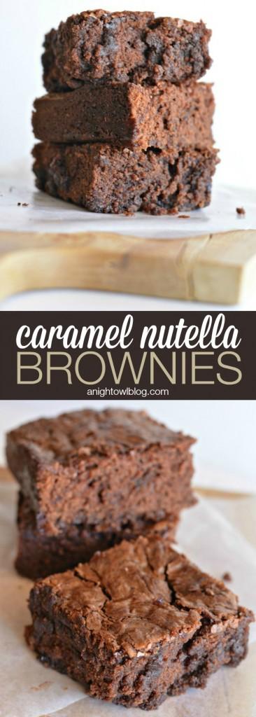 caramel hazelnut brownies nutella caramel nutella caramel hazelnut ...