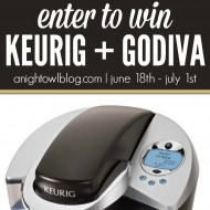 Keurig Coffee Maker & Godiva Gift Basket Giveaway