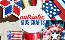 Great list of Patriotic Kids Crafts - Flags, Fireworks and More!
