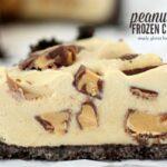 Peanut Butter Frozen Custard Pie with Oreo Crust