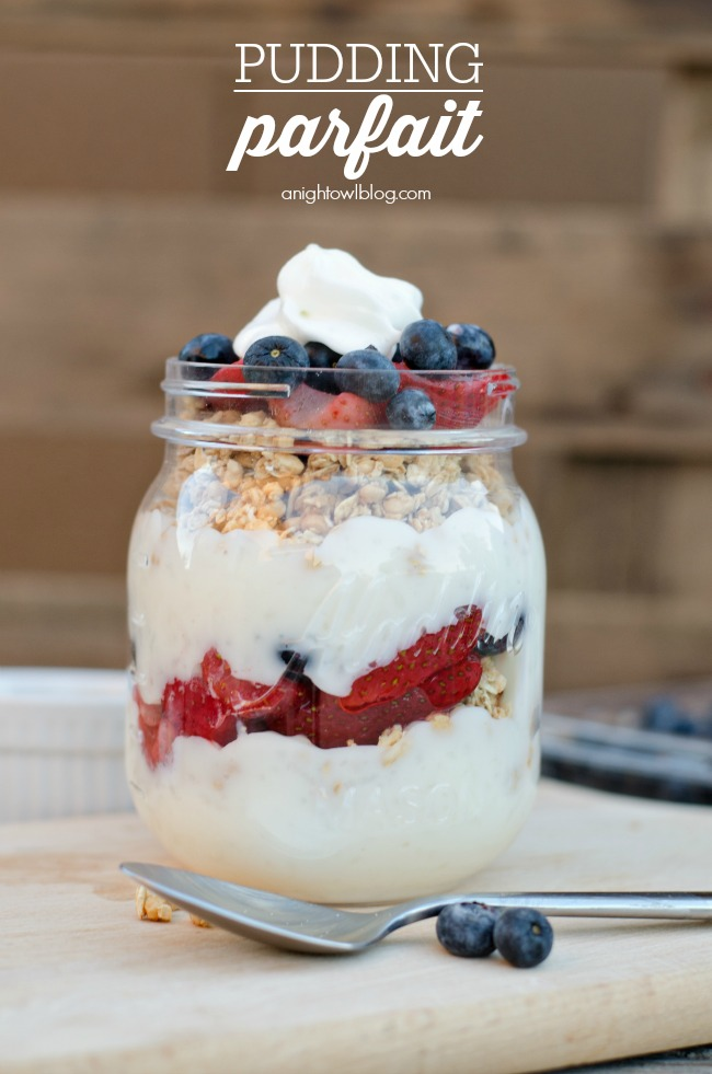 Delicious and easy to make Pudding Parfait!
