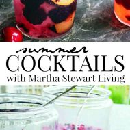 Summer Cocktails with Martha Stewart Living