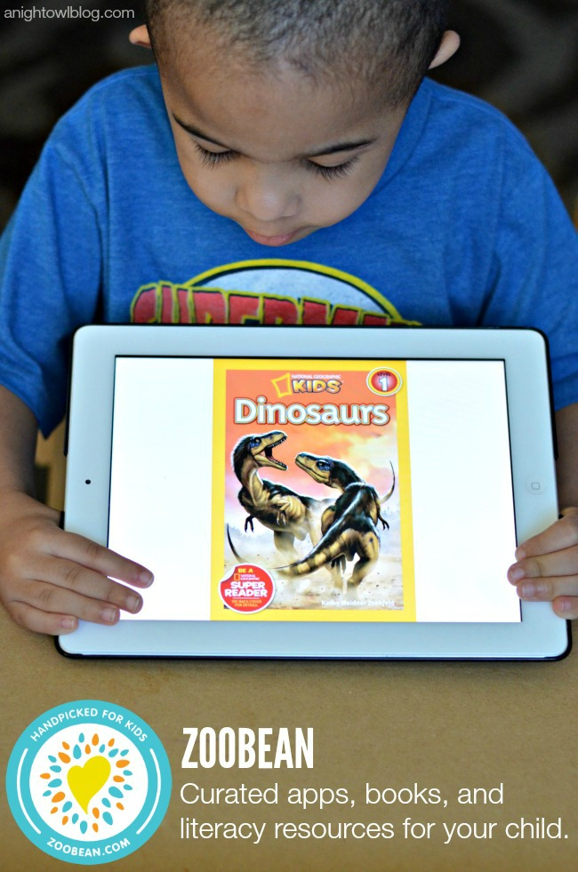 Zoobean - curated apps, books, and literacy resources for your child