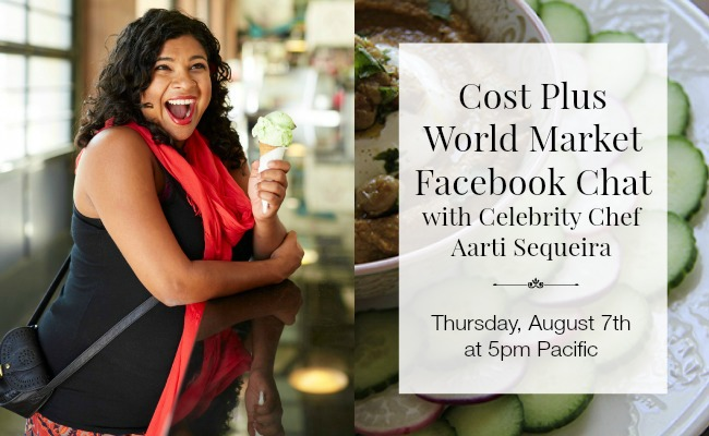 World Market Facebook Chat with Chef Aarti Sequeira