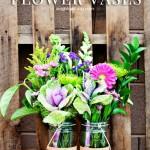 DIY Cork Flower Vases