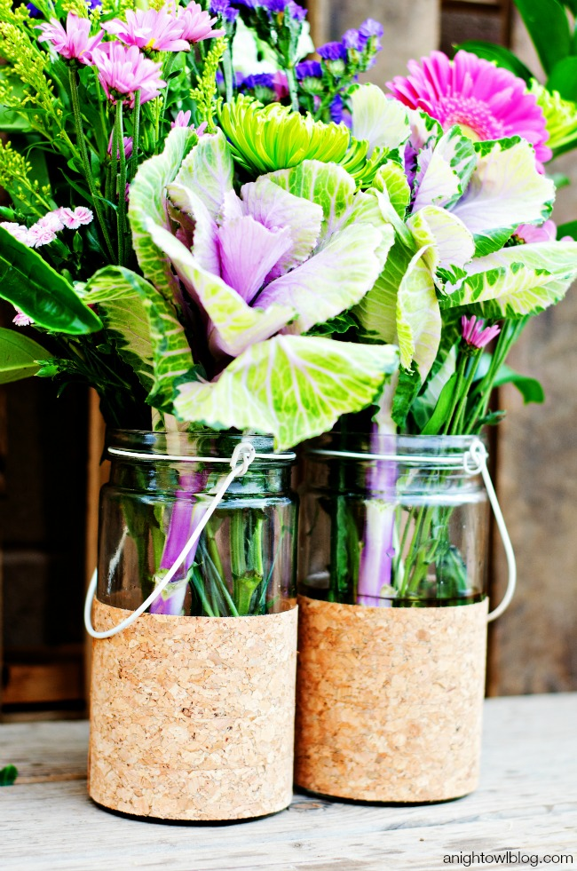 Diy Cork Flower Vases A Night Owl Blog