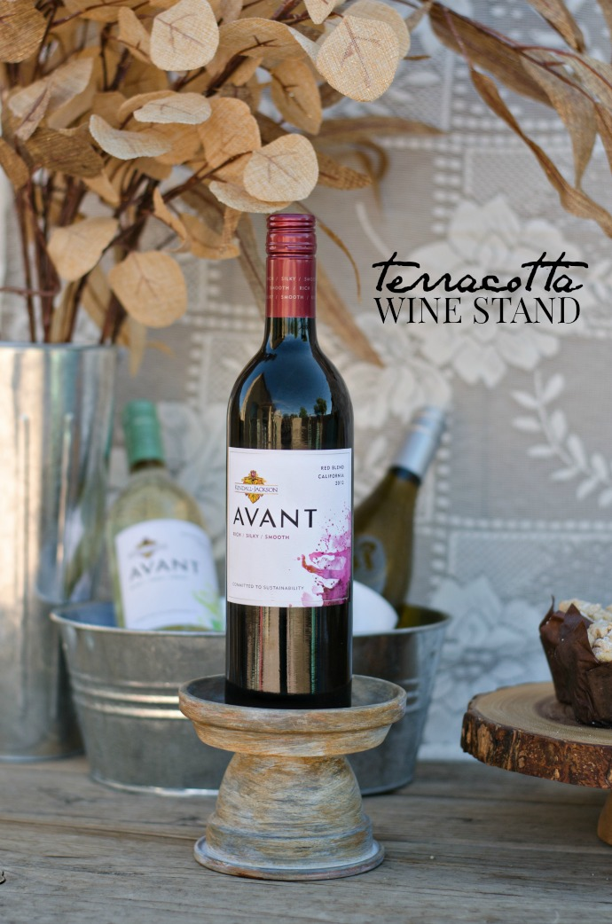 DIY Teracotta Wine Stand | blog.kj.com
