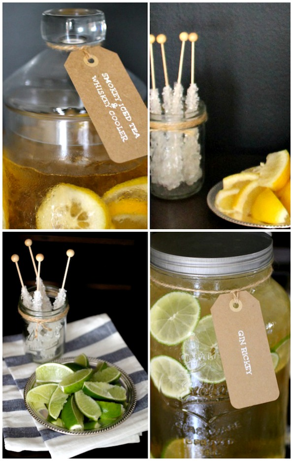 Hard Iced Tea Bar and Entertaining Tips | A Night Owl Blog