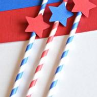 Patriotic Party Straws