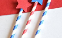 Such cute Patriotic Party Straws that you can make in minutes with just a few easy steps!
