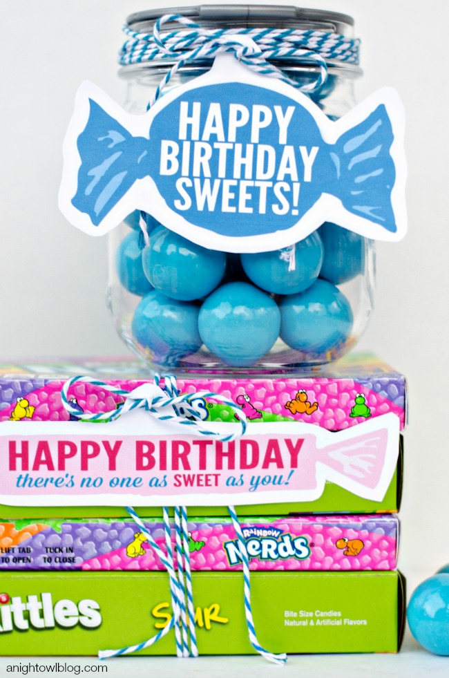 Sweet Candy Birthday Ideas and Printables!