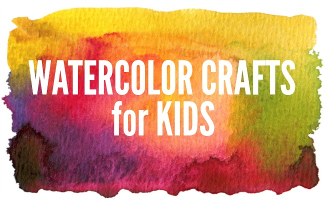 Watercolor Crafts for Kids | anightowlblog.com