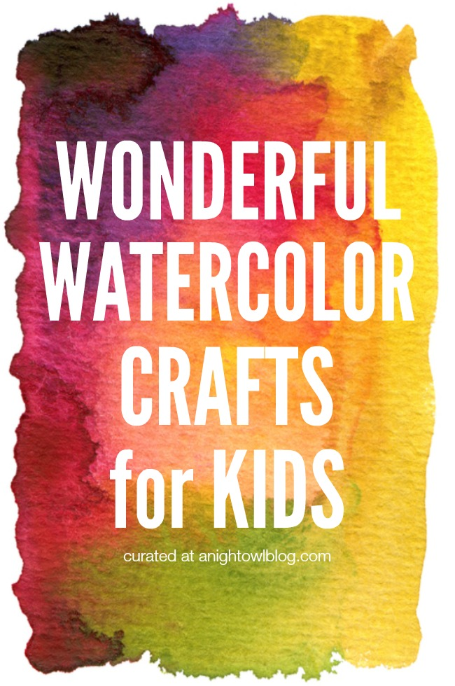 What a great list of Watercolor Crafts for Kids!