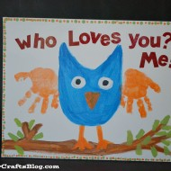 Handprint Owl Keepsake Kid Craft