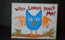 owl handprint canvas 2