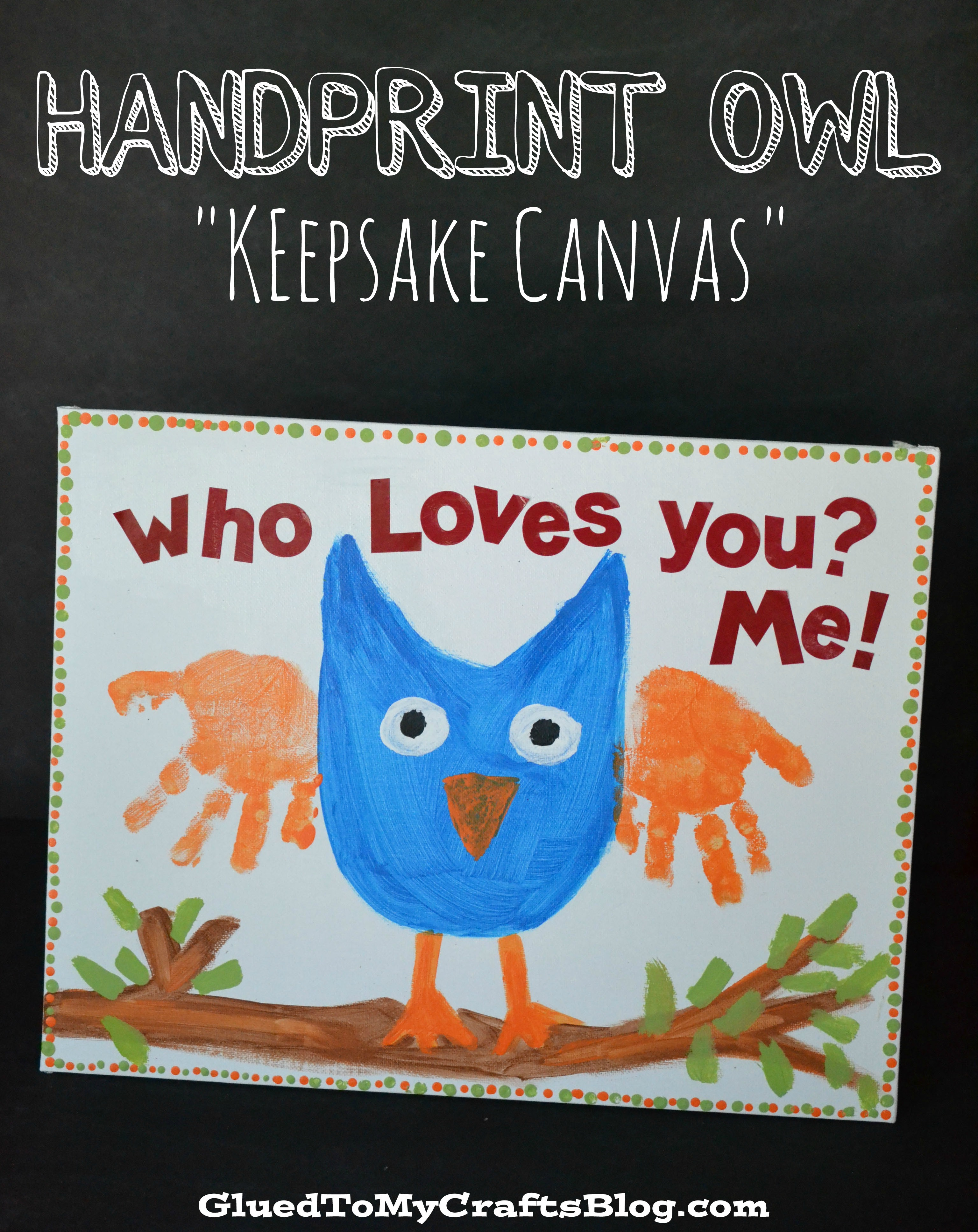 owl handprint canvas cover 1